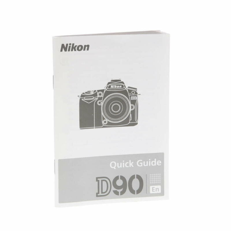 Nikon D90 First Time User Quick Guide - **EX**