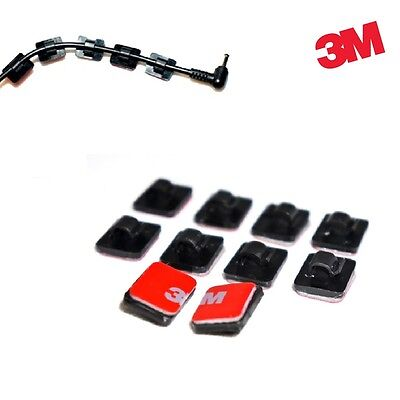 3M Self-adhesive Wire Tie Cable Clamp Clip Holder for DashCam GPS Car
