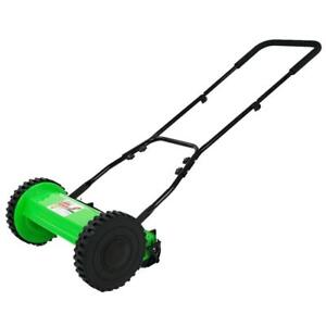 Lawn-Demon-12-in-5-Blade-Height-Adjusting-Push-Reel-Mower-9-In-Wheels-New