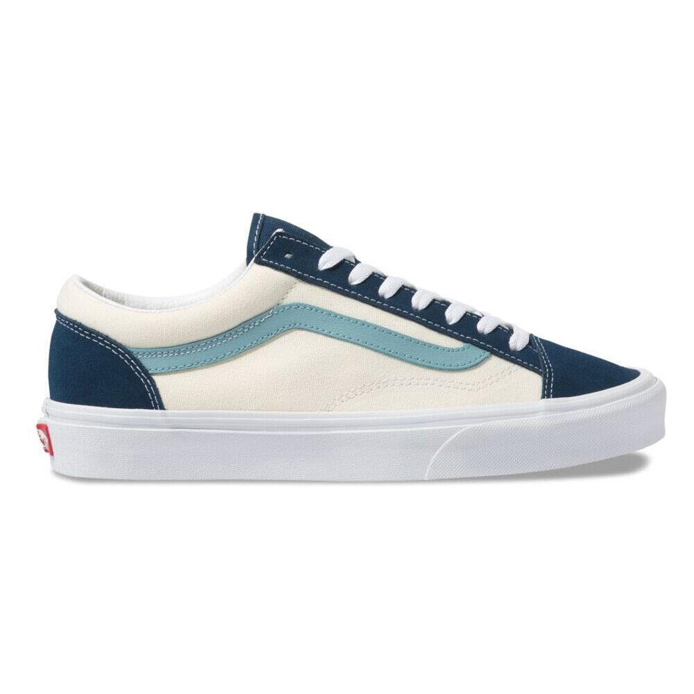 vans old skool cream and blue