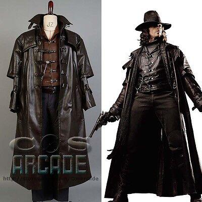 Abraham Van Helsing Cosplay Costume Vampire Hunter Suit Outfit Jacket Coat Hat](Van Helsing Vampire Costumes)
