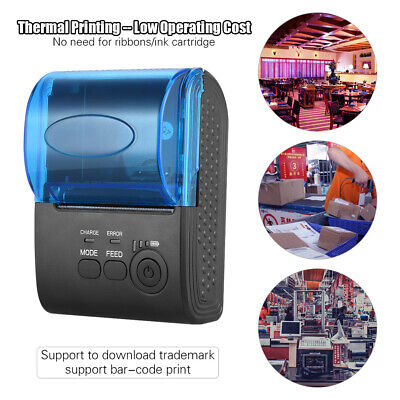 Mini Wireless Bluetooth USB Thermal Printer 58mm POS for IOS