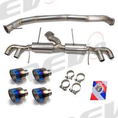 "Rev9 R35 GT-R 09-19 Titanium 3.5"" Mid-Pipe & 2.5"" Cat-Back Exhaust kit 5"" Tips"