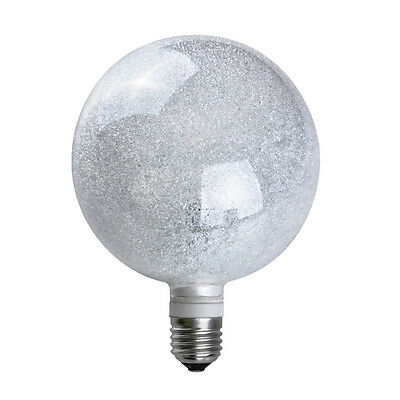Large 3W LED Designer Style Glitter Sparkle Globe Bulb Warm White Light ES E27
