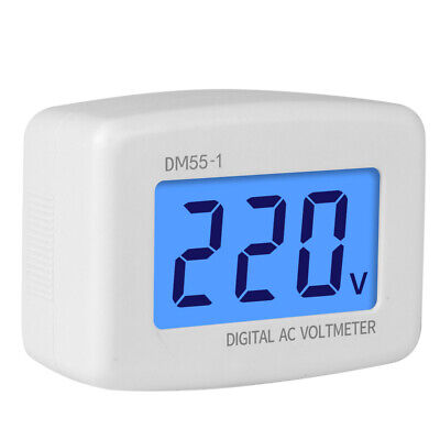 Us Plug Lcd Digital Voltmeter Ac 80v-300v Plug-in Home Voltage Meter Monitor