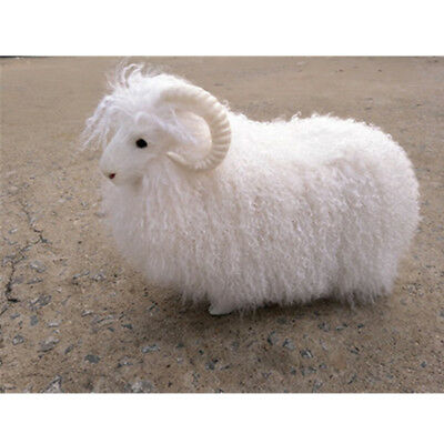 38Cmx30cm Simulation Sheep Plush Toy Stuffed Fluffy Animals Goat Doll Kids Gift