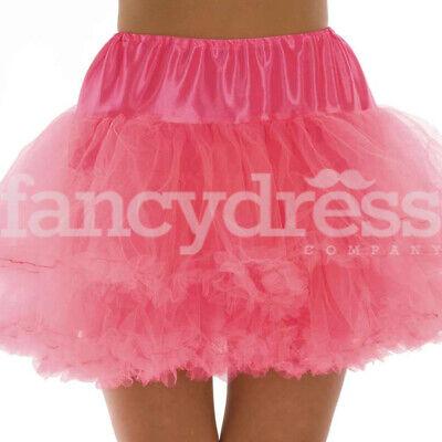 Neon Pink Underskirt Moulin Rouge Ruffle Tutu Bustle - Moulin Rouge Kostüm Party