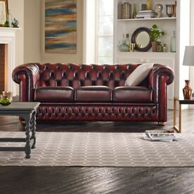 Oxblood chesterfield sofas SALE PRICE £650....(Normal RRP £1500)