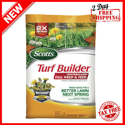 NEW Turf Builder WinterGuard Fall Weed & Feed, Feeds Grass for a Better