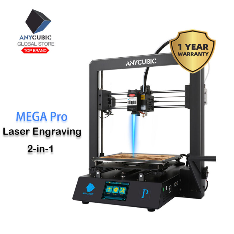 Anycubic Mega Pro Versatile 2-in-1 3D Printer High-precision Silent Motherboard