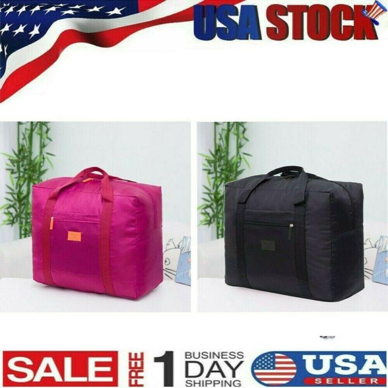 US Packable Travel Duffel Bag Waterproof Nylon Foldable Carr
