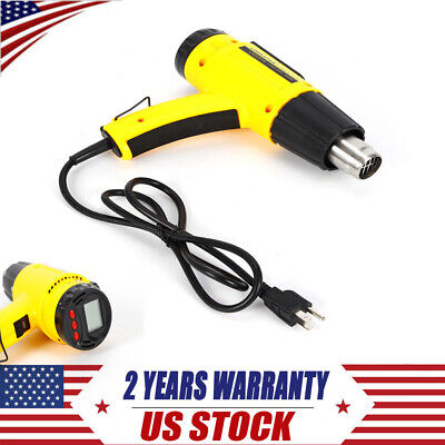 Industrial Hot Air Heat Gun 1500w Lcd Digital Temperature Adjustable Tool