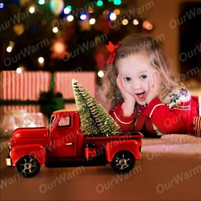 OurWarm Christmas 2020 Little Red Truck Table Top Decor New Year's Products for  ()