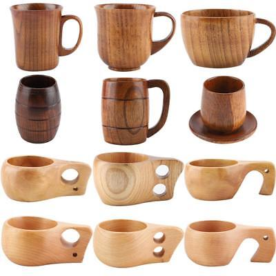 Handmade Natural Solid Wood Tea Cup Wooden Wine Coffee Water