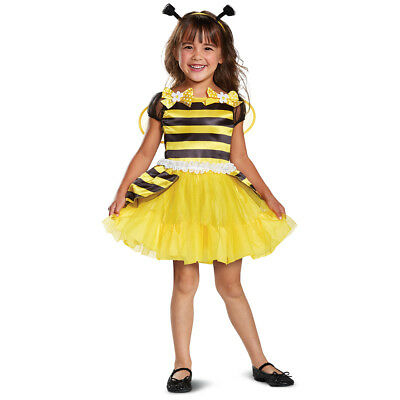 Bee Abeja Baby Girl Toddler Bumble Bee Dress Costume Toddler 2T](Bee Costume Baby)