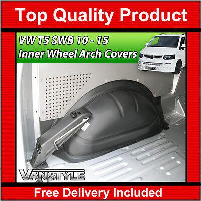 VW T5 TRANSPORTER & CARAVELLE SWB 2010-2015 ABS INNER INTERNAL WHEEL ARCH COVERS