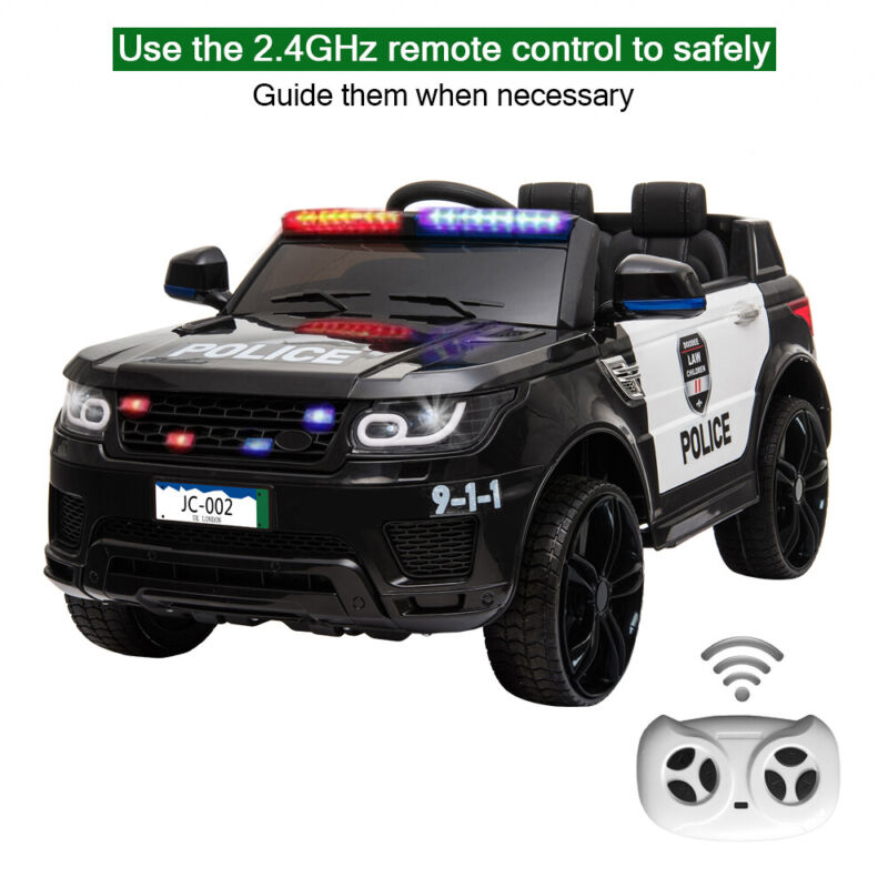12V Kids Police Ride On SUV Car Toys 3 Speed , Light , Music , Remote Control