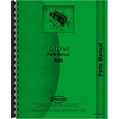 New Oliver 500 Tractor Parts Manual