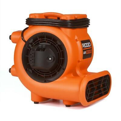 Ridgid Blower Fan Air Mover Daisy Chain Dryer Wet Floor Carpet Jobsite 1625 Cfm