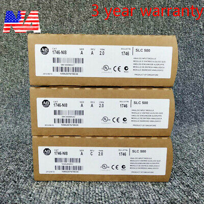 New Factory Sealed Allen Bradley 1746-ni8 Sera 2.0 Slc 500 Analog Input Plc Usa