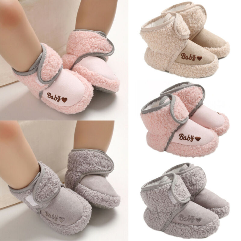 Infant Baby Girls Boys Toddler Anti-slip Warm Slippers Socks Crib Shoes Boots