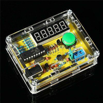 New 1hz-50mhz Crystal Oscillator Tester Frequency Counter Meter Case Diy Kits