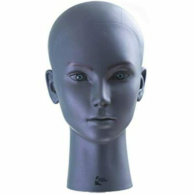 Dear Model Purple Gray Color Bald Mannequin Head Wig Making Styling Female With