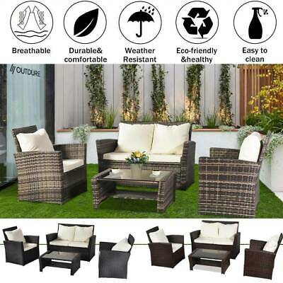 Garden Furniture - Rattan Garden Furniture Dining Set Conservatory Patio Outdoor Table Chairs Sofa
