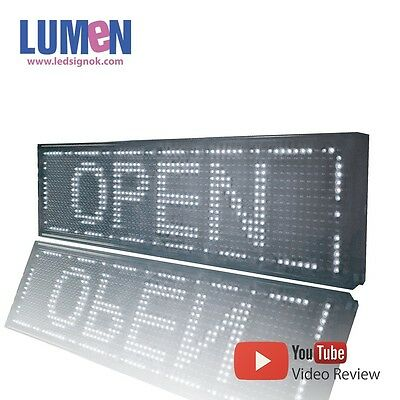 8 X 27 White Indoor Programmable Led Scrolling Sign Message Board Display P10