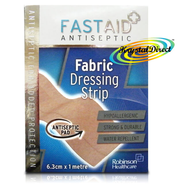 Fast Aid Antiseptic Fabric Dressing Strip 6.3cm x 1 m