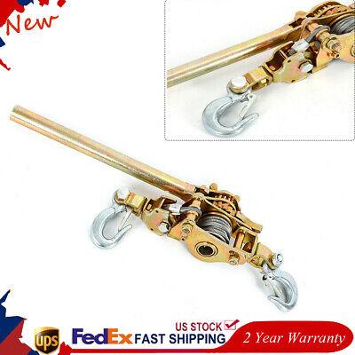 2ton Hand Lever Puller Come Along Double Hooks Cable Hd Hoist Ratchet 4400lb Ups