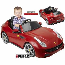 Feber Licensed Ferrari FF 6v Kids Electric Ride on Cars - Red