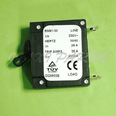 28 Amp 28a Circuit Breaker For Generator Bsb1-30 Baishibao Bsb 35a Trip Amps