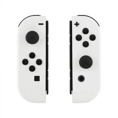 Custom Soft Touch White Housing Shell With Buttons for Nintendo Switch -