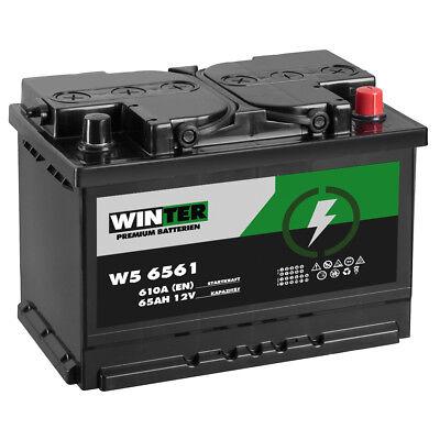 WINTER Autobatterie 65Ah 610A/EN ersetzt 44Ah 50Ah 54Ah 55Ah 60Ah 62Ah 63Ah Blue Bb