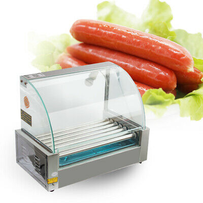 Usa Commercial Electric 18 Hot Dog 7 Roller Grill Cooker Machine 1200-wattcover