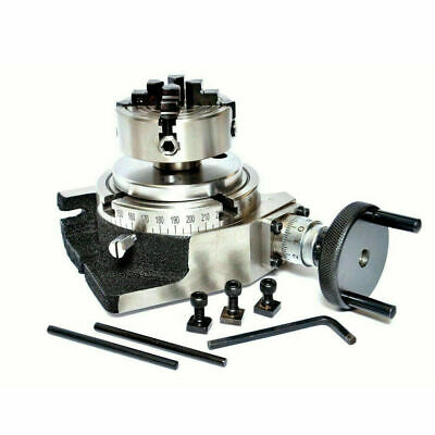 Rotary Table 4 Inch 100 Mm With 65 Mm Mini Independent Lathe Chuck