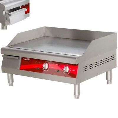 Avantco 24 Electric Commercial Countertop Steel Flat Top Griddle Grill 208240v