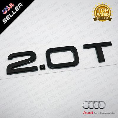 OEM Nameplate Audi 2.0T Gloss Black Emblem 3D Trunk Logo Badge Decoration SUV for sale  San Francisco
