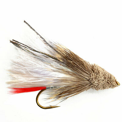 Silver March Brown Wet Fly Fishing Flies taille 10 2 mouches