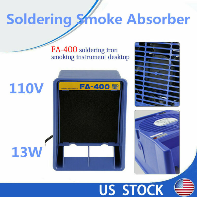 Mini 16W Solder Smoke Absorber Remover Fume Extractor Air Filter Fan f/Soldering