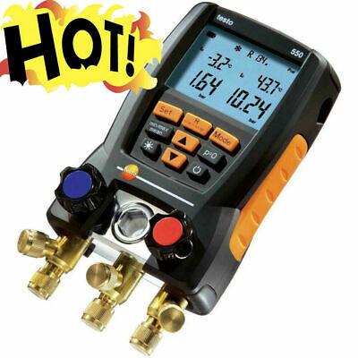 Testo 550 Refrigeration Meter Digital Manifold 0563 1550 2x Clamp Probes Case