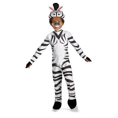 Unisex Kinder Dreamworks Madagaskar Deluxe Marty Zebra Zoo Tier - Madagaskar Kostüm Kinder