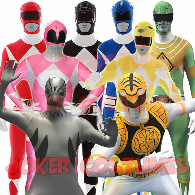 Power Ranger Morphsuit In 8 Farben Unisex Karneval - Power Ranger Kostüme Gruppe