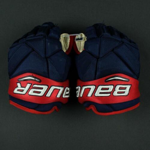 "Used Bauer Vapor 1X Nick Foligno Pro Stock 13"" Hockey Gloves! Blue Jackets CBJ"