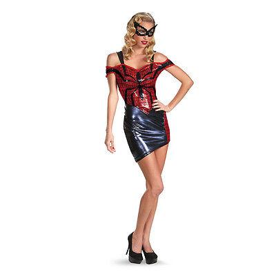 Adult Sexy Spider-Girl Glam Sequin Dress Costume - Sexy Spider Girl Kostüm