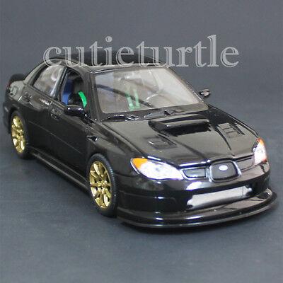 Welly 22487 2005 Subaru Impreza Wrx Sti 1:24 Diecast Model Car Black