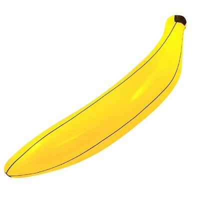 Pool Party Food (INFLATABLE BANANA 80cm Pool Party Blow Lounger Float Prop Fruit Food Adults)