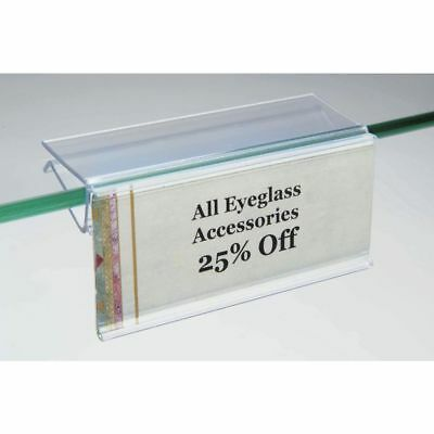Glass Shelf Label Holders Pack Of 50 17085