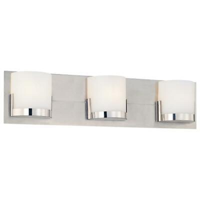 George Kovacs Convex 3 Light Chrome Bath Bar Wall Light Model# P5953-077 077 George Kovacs Bath Light